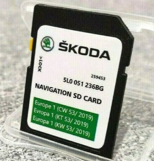 SD Card SKODA GEN2 MIB2 Amundsen 2 Navigation Map Europe 2020